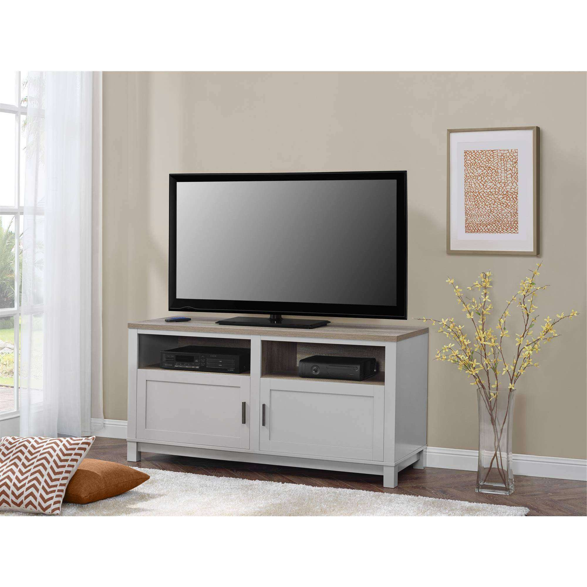 Better Homes And Gardens Langley Bay Tv Stand For Tvs Up To 60 Within Grey Wooden Tv Stands (View 2 of 15)