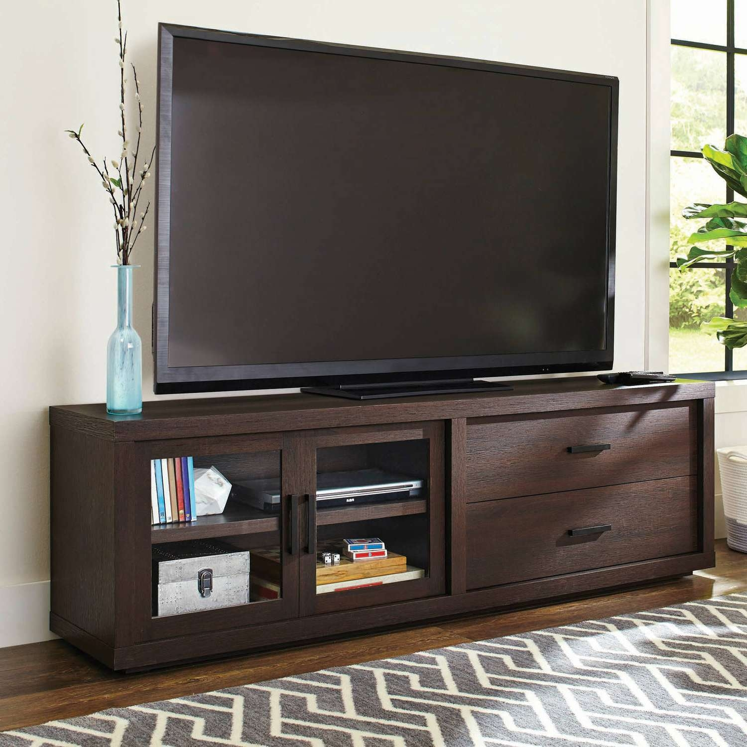 Better Homes And Gardens Steele Tv Stand For Tv's Up To 80 Pertaining To Expresso Tv Stands (View 13 of 15)