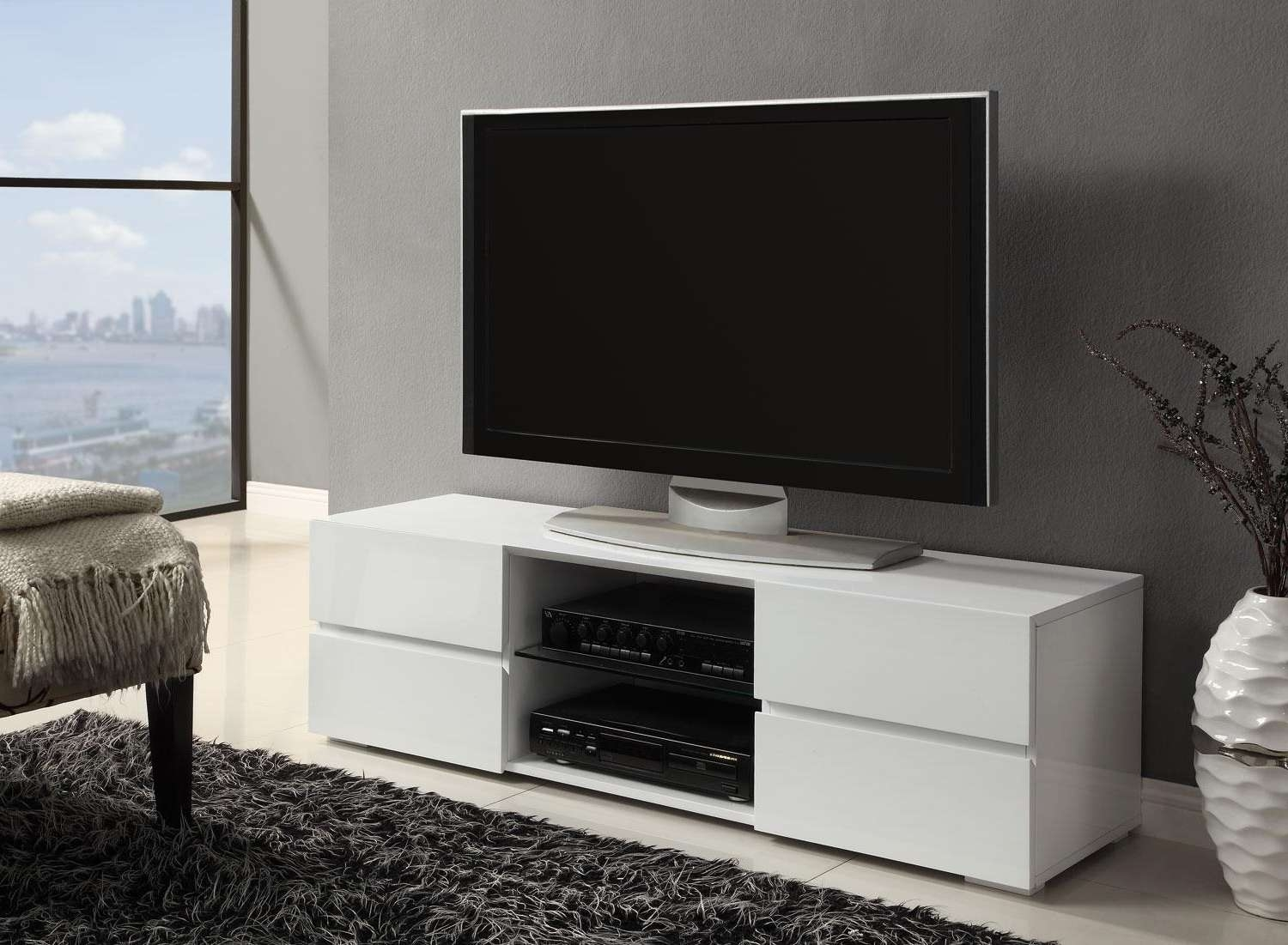 Bianco White Modern Tv Stands | Contemporary Tv Stands With Contemporary Tv Stands (View 4 of 15)