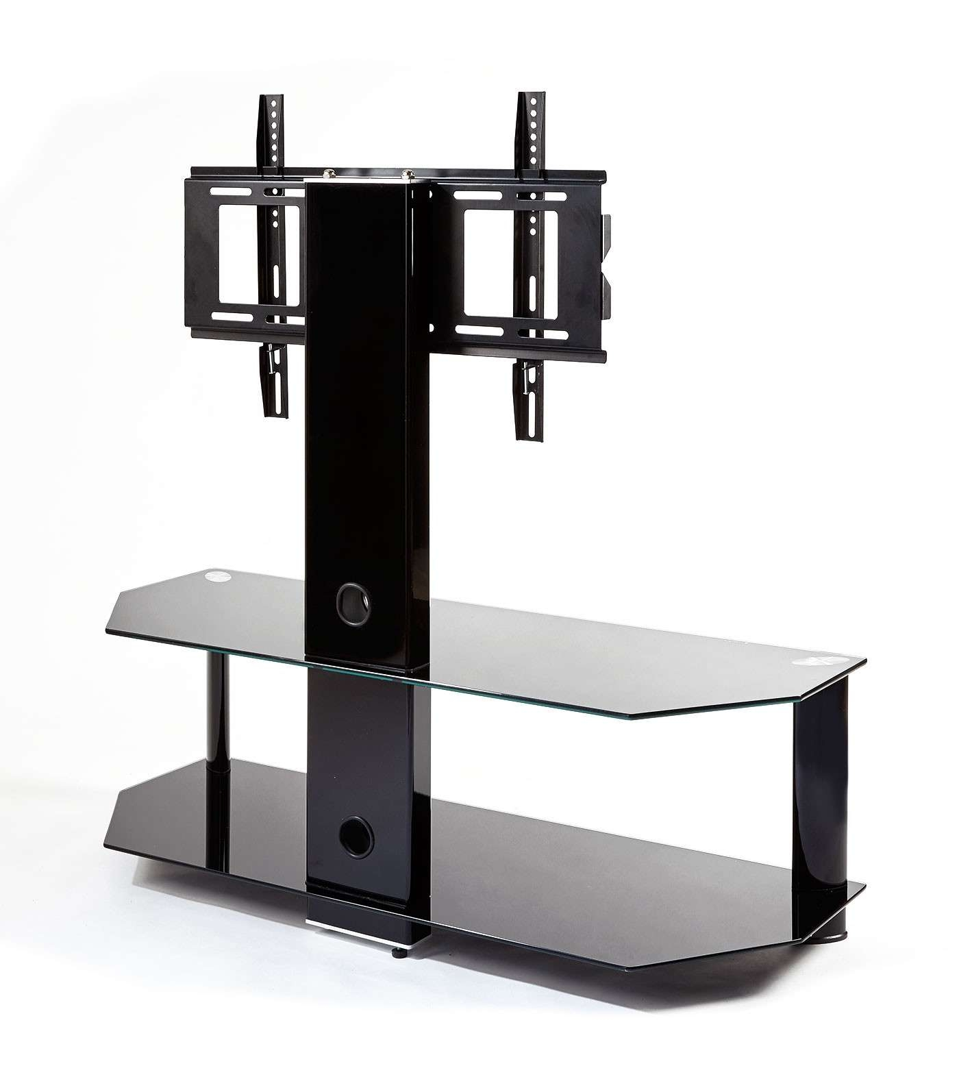 Black Glass Cantilever Tv Stand | Mmt Cb110/2 Regarding Cantilever Glass Tv Stands (View 7 of 20)