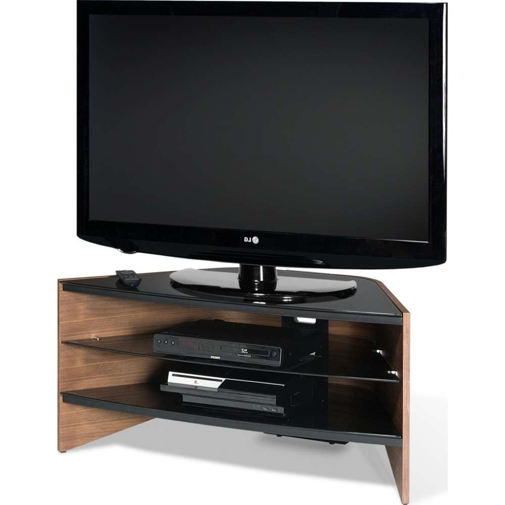Black Glass Shelves; Screens Up To 50 For Techlink Tv Stands (View 1 of 15)