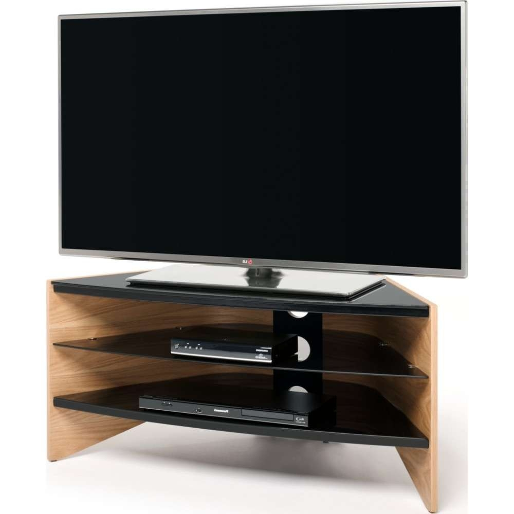 Black Glass Shelves; Screens Up To 50 With Techlink Riva Tv Stands (View 4 of 15)