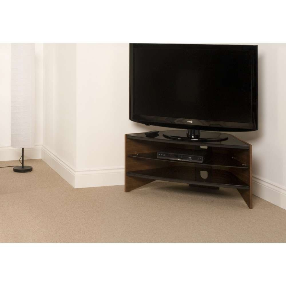 Black Glass Shelves; Screens Up To 50 With Techlink Riva Tv Stands (View 3 of 15)