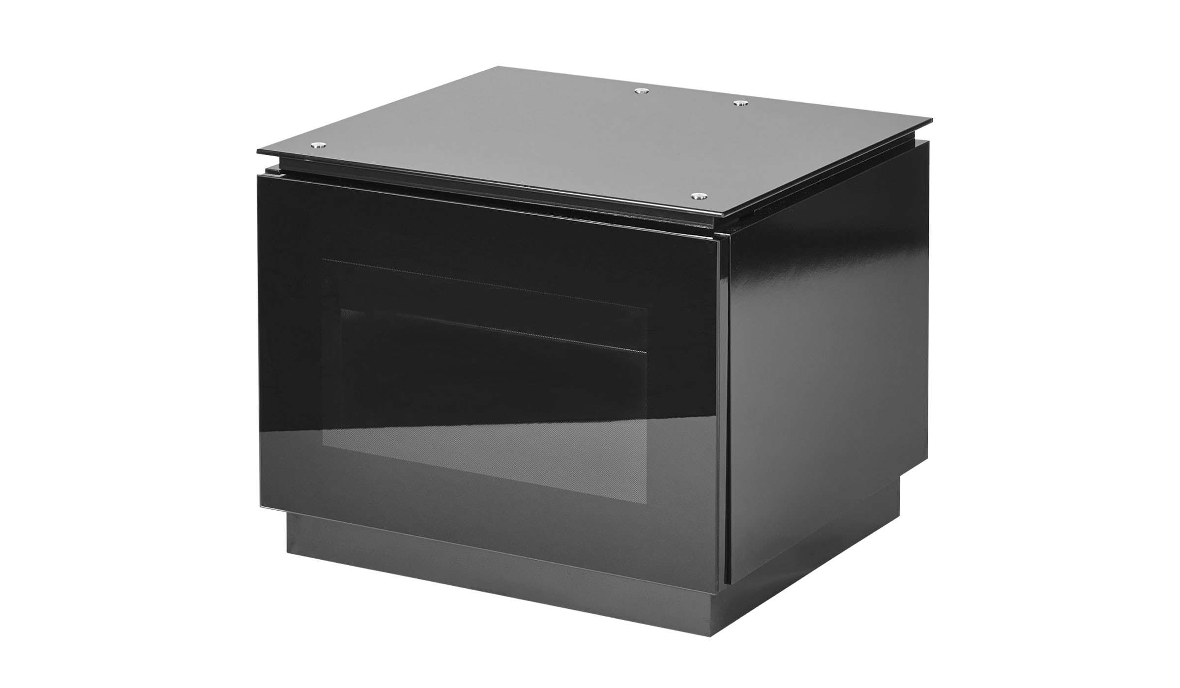 Black Gloss Tv Unit Up To 32 Inch Flat Screen Tv | Mmt D550 Inside Glass Tv Cabinets With Doors (View 8 of 20)
