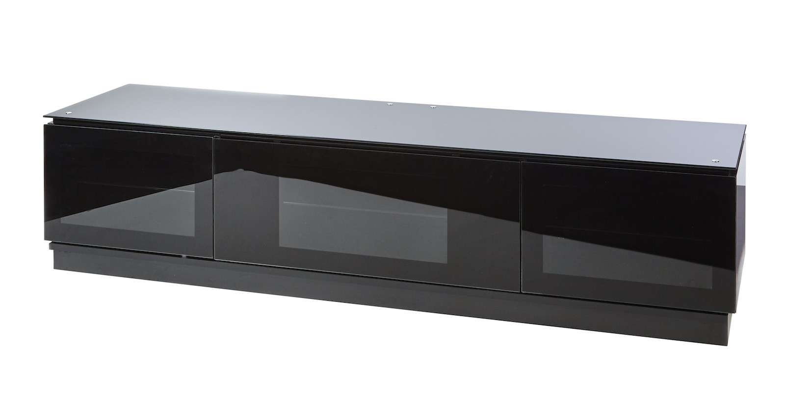 Black Gloss Tv Unit Up To 80 Inch Flat Screen Tv | Mmt D1800 Regarding Black Tv Stands (View 3 of 20)