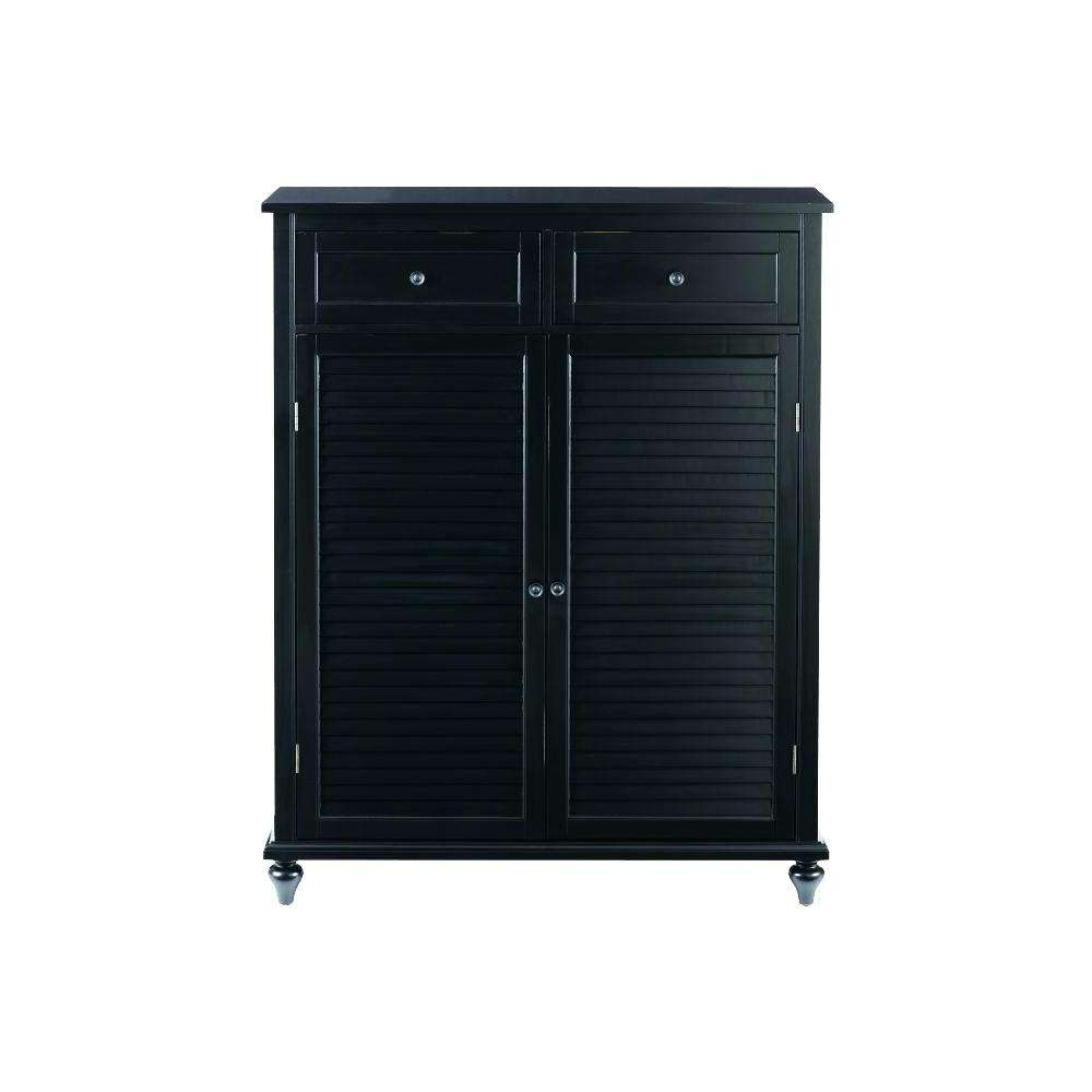 Black Media Storage Cabinet With Doors Wood Wooden Cabinets Wicker Pertaining To Tv Stands With Baskets (View 3 of 15)