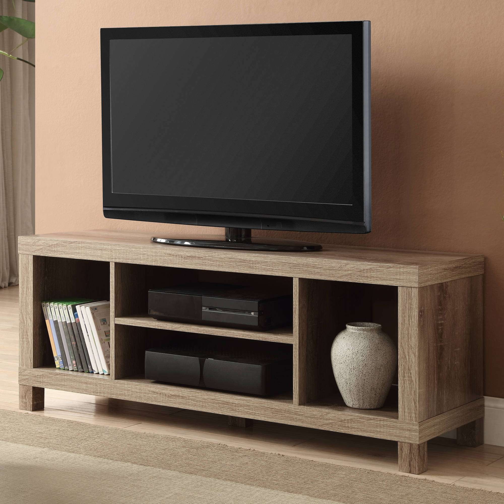 "Black Oak Tv Stand For Tvs Up To 42"" – Walmart Regarding Oak Tv Stands For Flat Screens (View 2 of 15)"