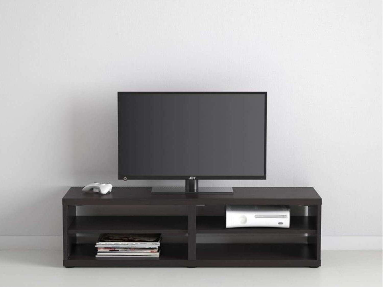 Black Wood Cavani Tv Stand Cabinet   Furniturebox With Regard To Modern Black Tv Stands (View 7 of 20)