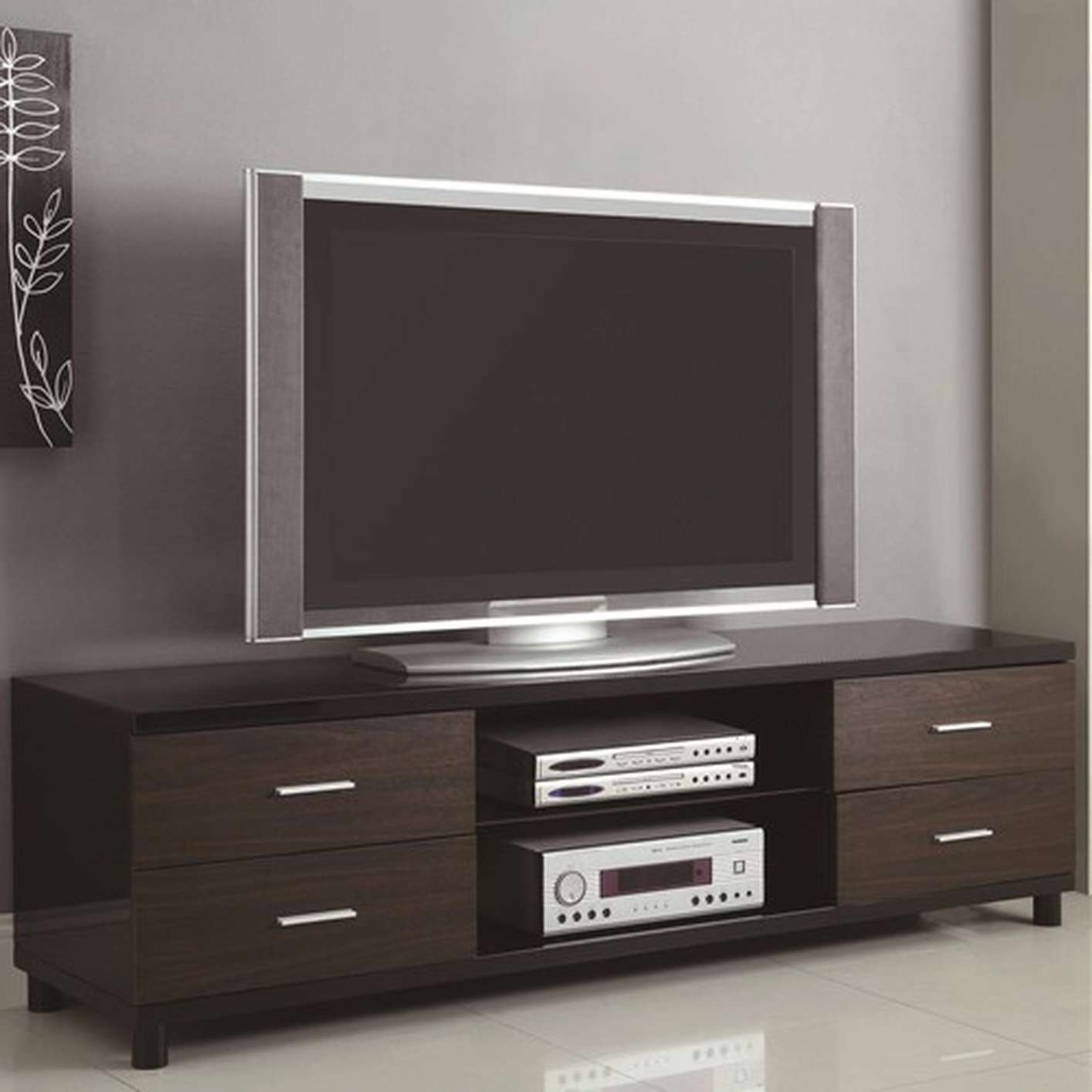 Black Wood Tv Stand – Steal A Sofa Furniture Outlet Los Angeles Ca Within Contemporary Black Tv Stands (View 12 of 15)
