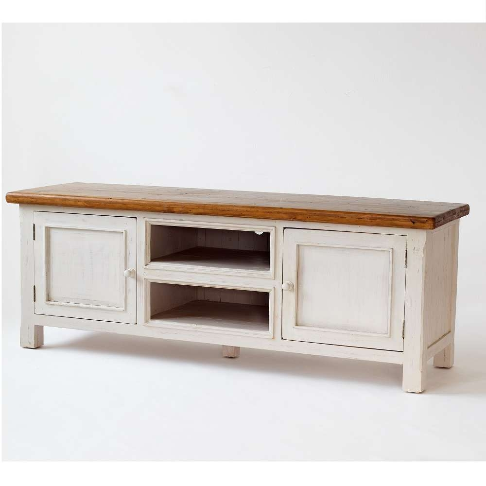 Boddem Tv Cabinet In White Pine 2 Doors And Shelf 25345 Throughout Pine Tv Cabinets (View 2 of 20)