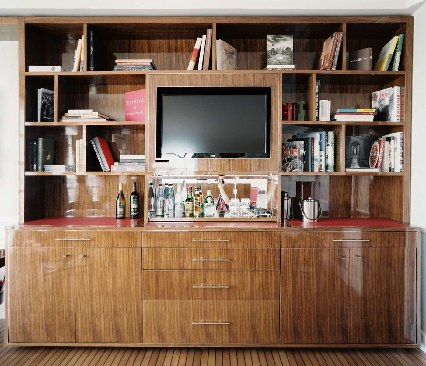Bookcase Tv Stand Photos, Design, Ideas, Remodel, And Decor – Lonny Intended For Tv Stands And Bookshelf (View 1 of 15)