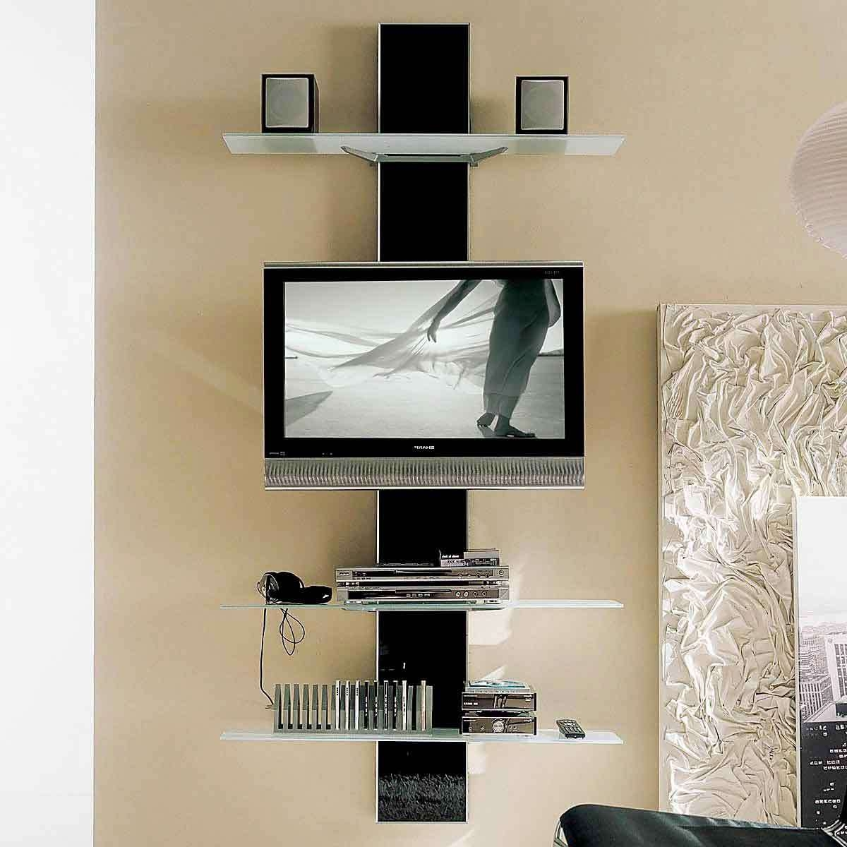 Breathtaking Unusual Tv Stands With Modern Led Tv Under Two Square For Square Tv Stands (View 14 of 15)