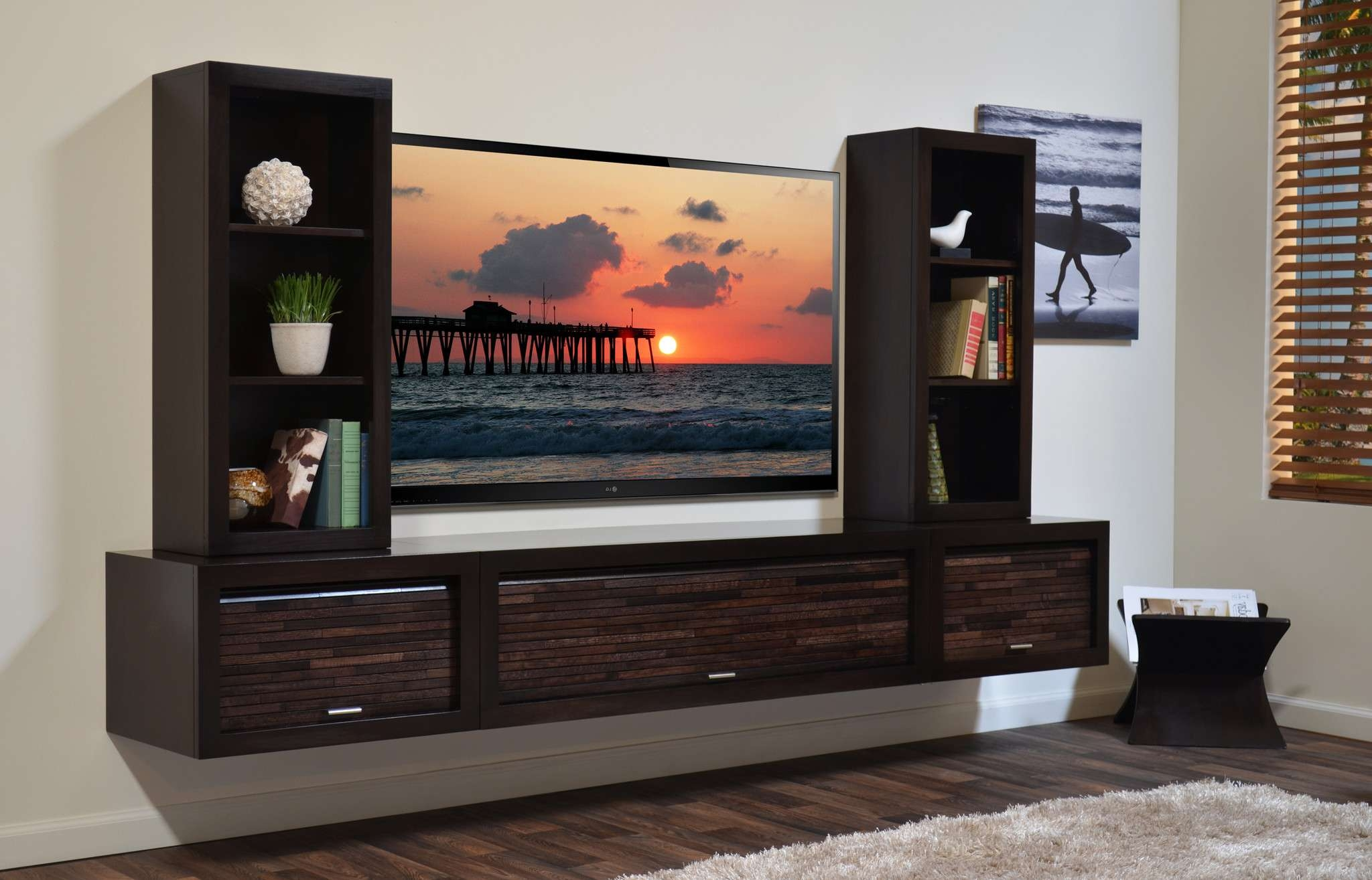 Bright And Modern Wall Entertainment Shelf Nice Ideas Floating Intended For Entertainment Center Tv Stands (View 2 of 15)