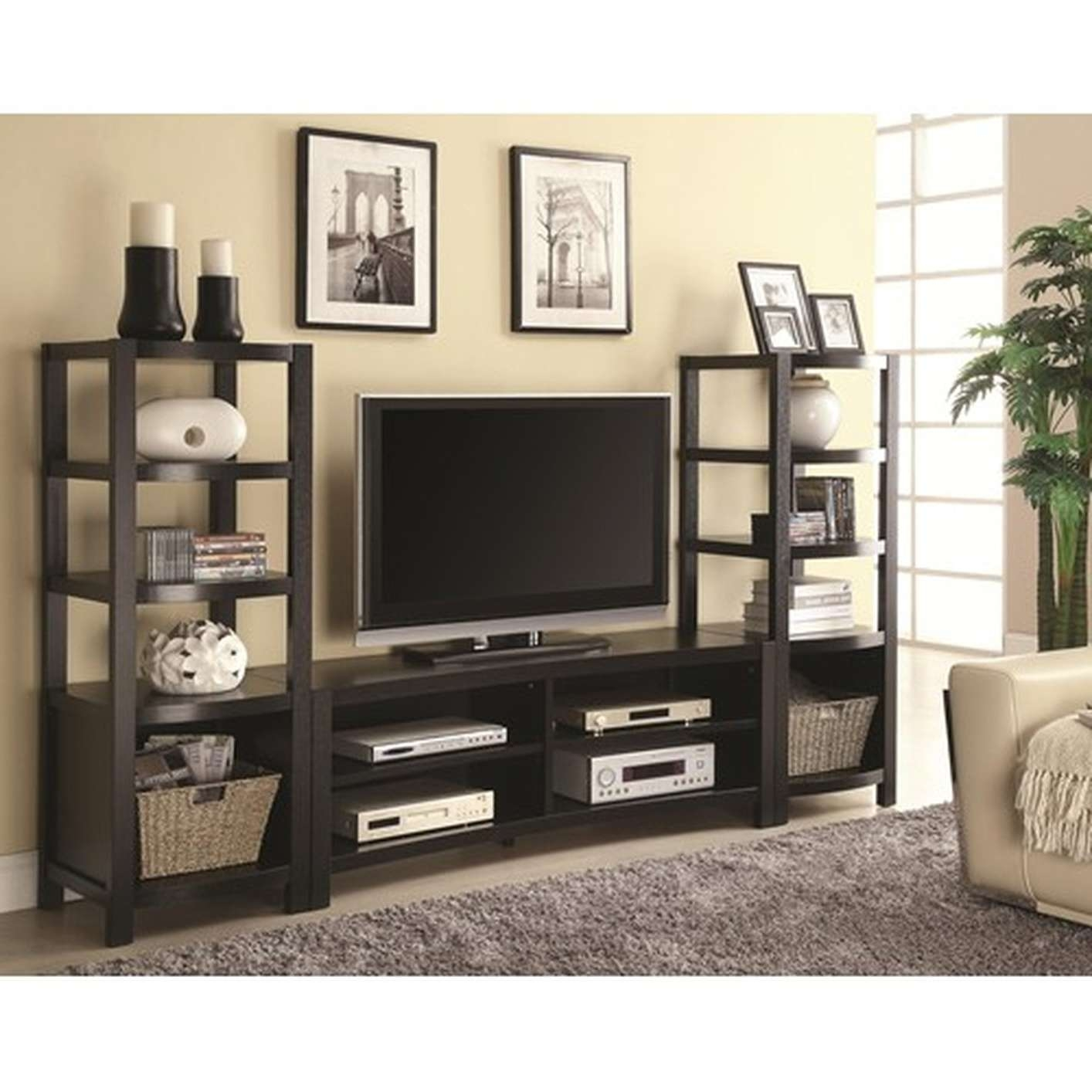 Brown Wood Tv Stand – Steal A Sofa Furniture Outlet Los Angeles Ca Pertaining To Brown Tv Stands (View 7 of 20)