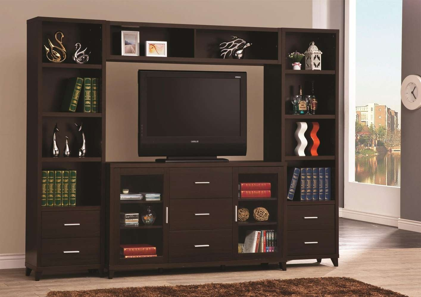 Brown Wood Tv Stand – Steal A Sofa Furniture Outlet Los Angeles Ca Throughout Brown Tv Stands (View 10 of 20)