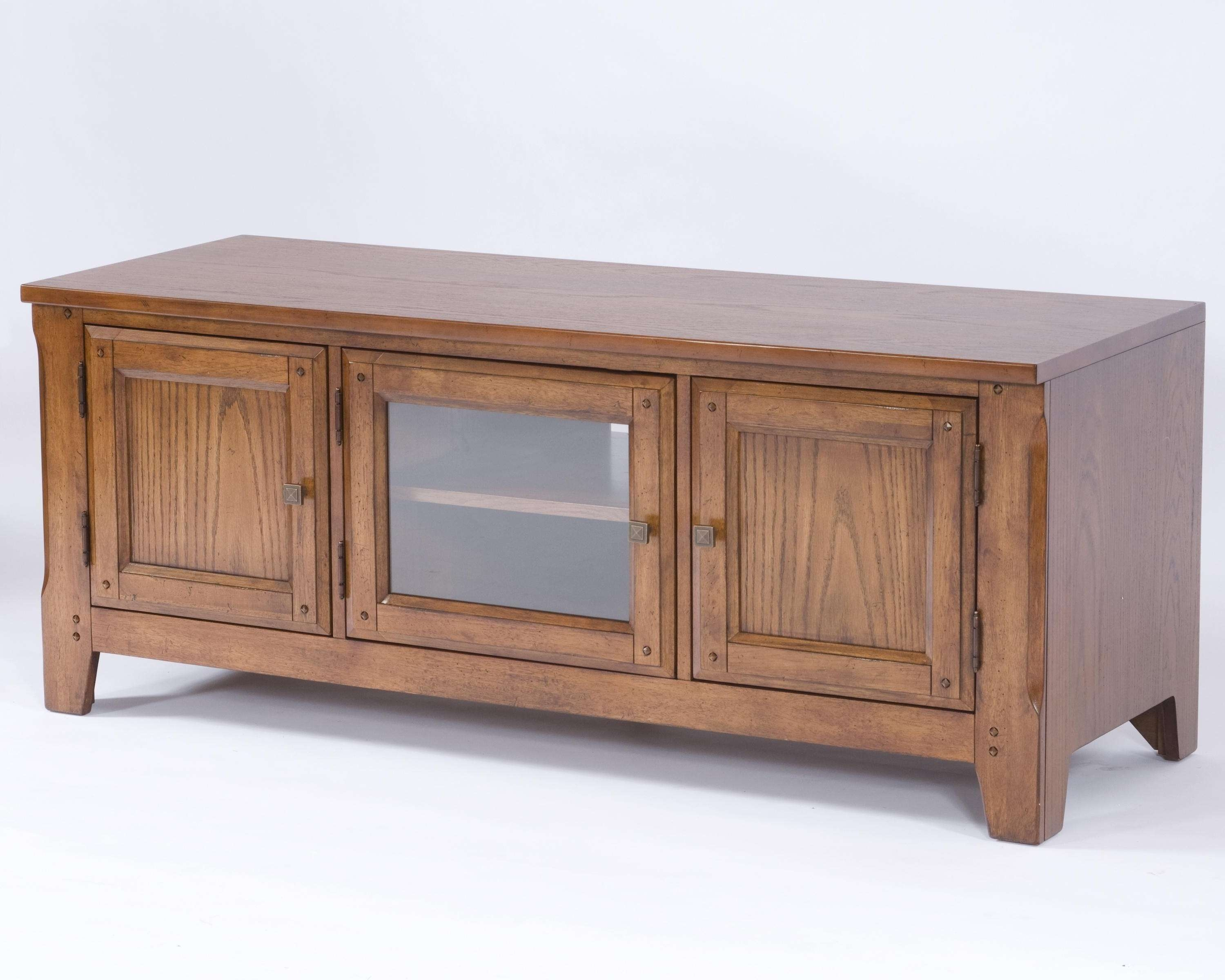 "Broyhill Furniture Attic Heirlooms 60"" Entertainment Console For Long Oak Tv Stands (View 18 of 20)"