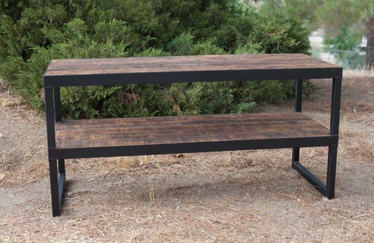 Buy A Hand Made Industrial Tv Stand (View 2 of 15)