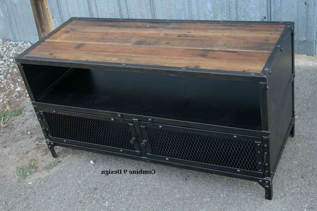 Buy A Hand Made Vintage Industrial Tv Stand (View 4 of 15)