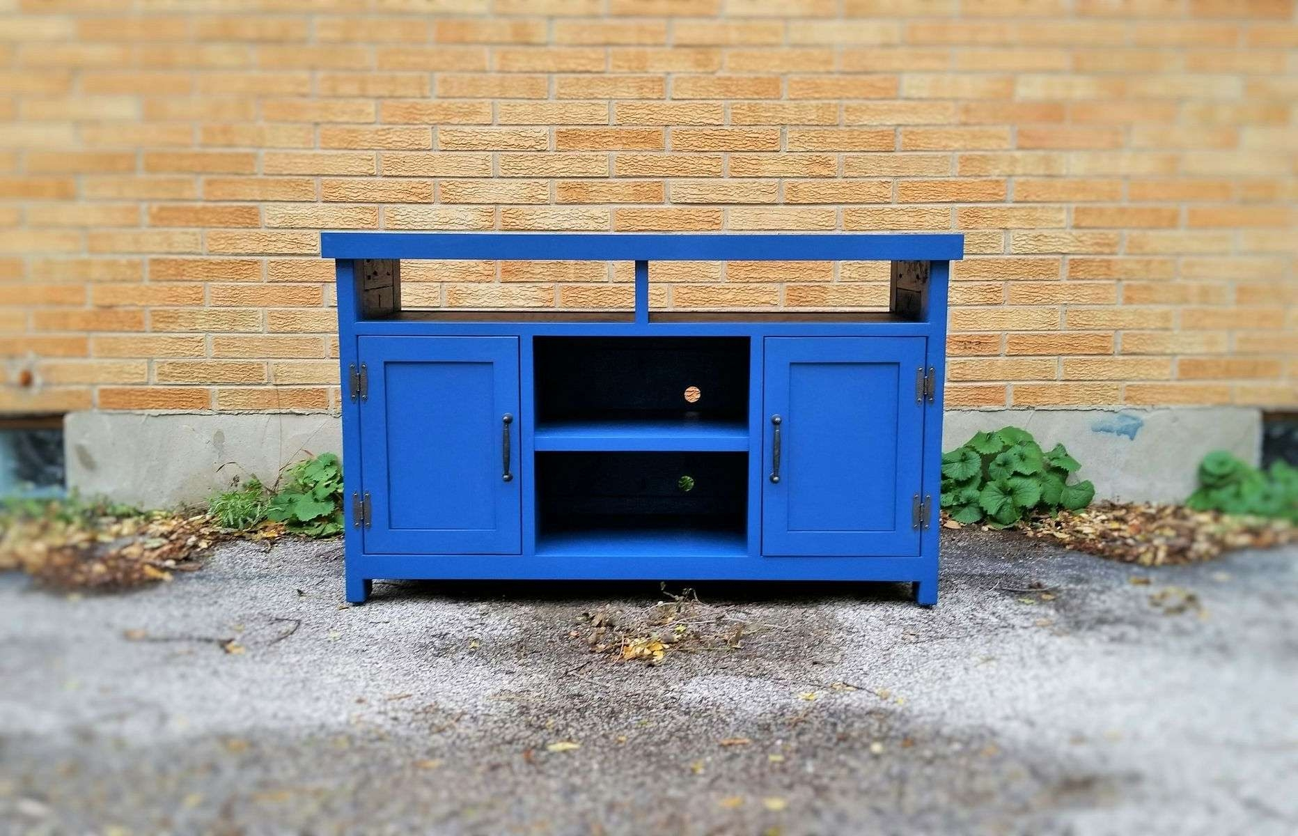 Buy A Handmade Barnwood, Entertainment Center, Media Console, Tv Inside Blue Tv Stands (View 5 of 15)