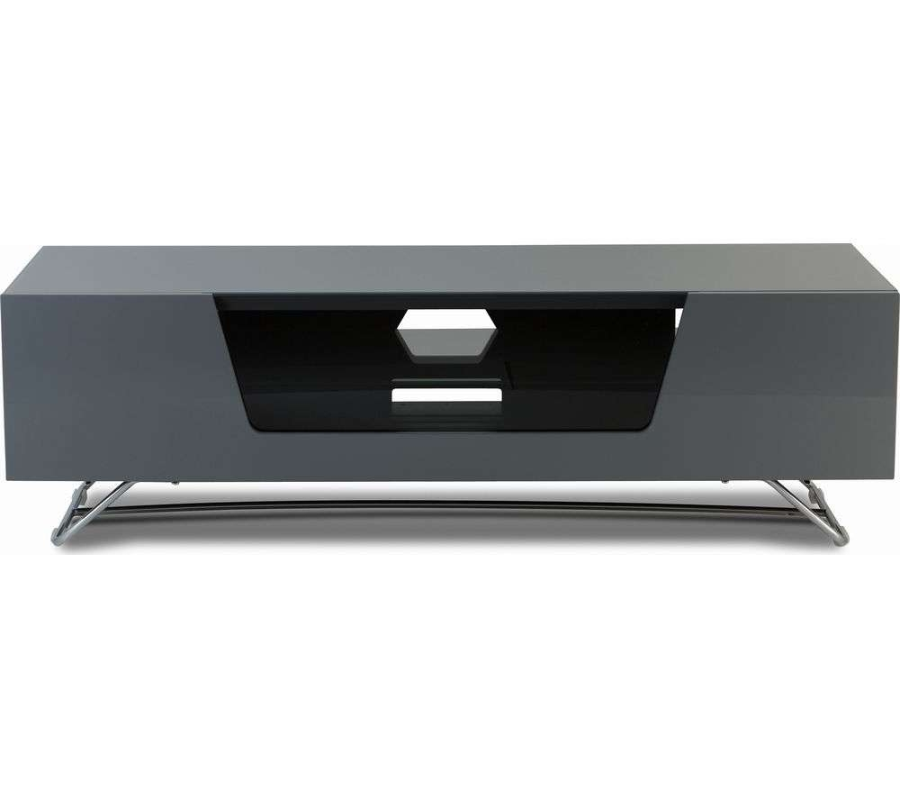 Buy Alphason Chromium 2 1200 Tv Stand – Grey | Free Delivery | Currys Within Grey Tv Stands (View 3 of 15)