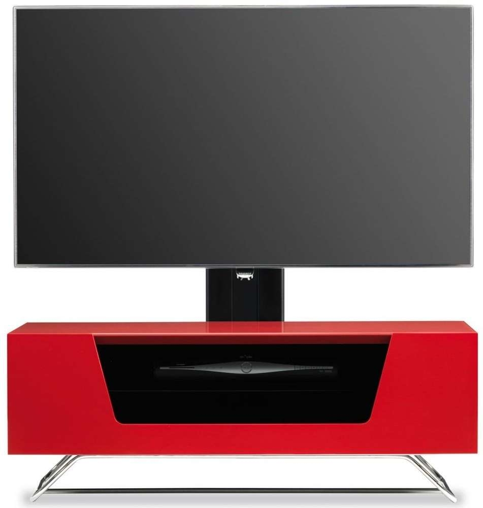 Buy Alphason Chromium 2 Red Cantilever Tv Cabinet – Cro2 1000Bkt Inside Red Tv Cabinets (View 1 of 20)
