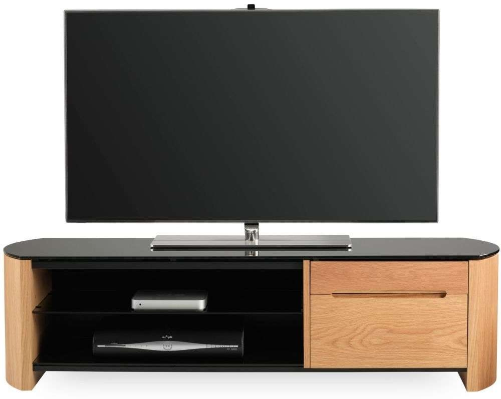 Buy Alphason Finewood Light Oak Tv Cabinet – Fw1350cb Online – Cfs Uk Throughout Light Oak Tv Cabinets (View 7 of 20)
