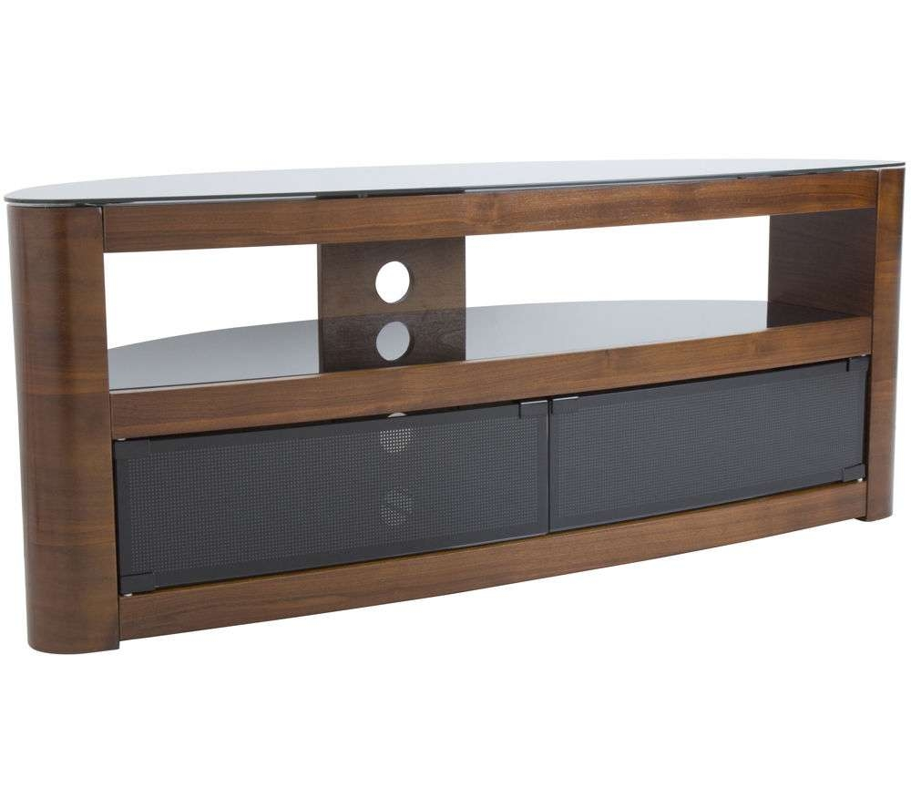 Buy Avf Burghley Tv Stand | Free Delivery | Currys For Walnut Tv Cabinets With Doors (View 2 of 20)