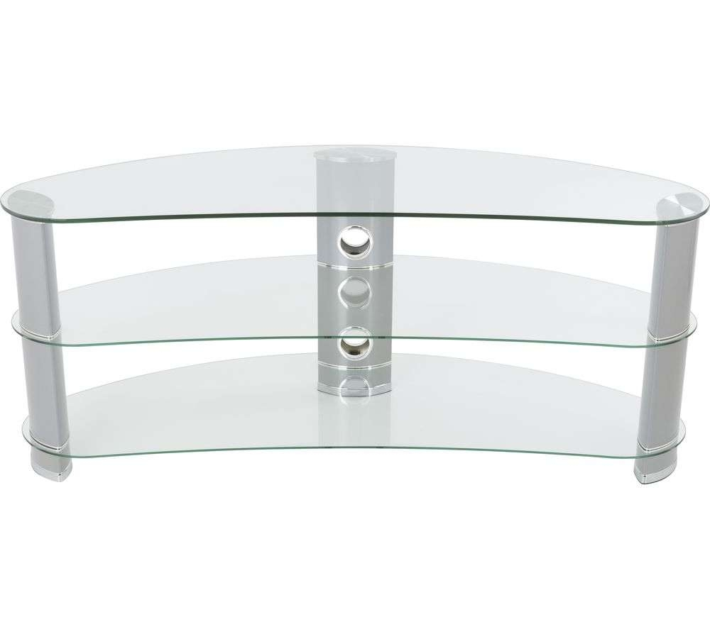 Buy Avf Jellybean Fs1200Curcs Tv Stand – Silver | Free Delivery Regarding Silver Tv Stands (View 3 of 15)