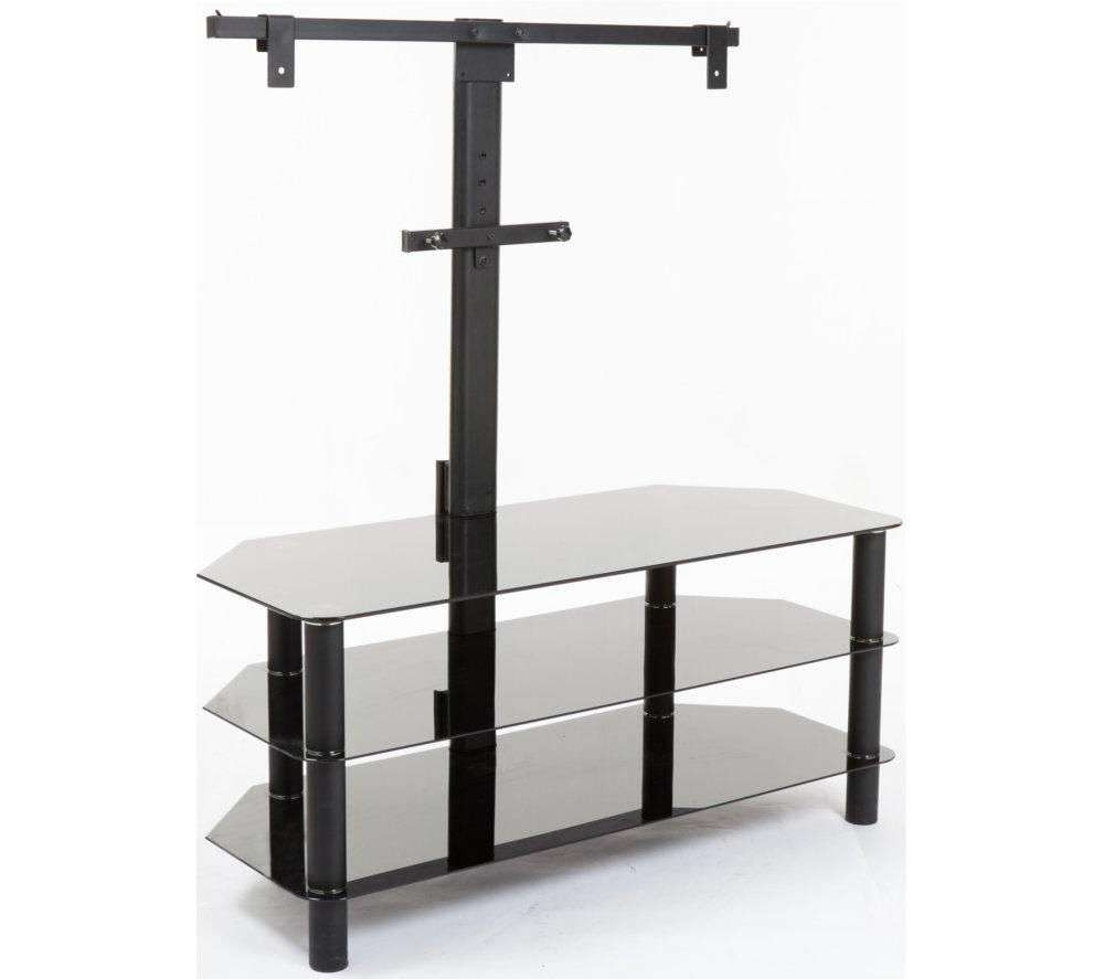 Buy Logik S105Br14 Tv Stand With Bracket | Free Delivery | Currys Inside Black Glass Tv Stands (View 8 of 15)
