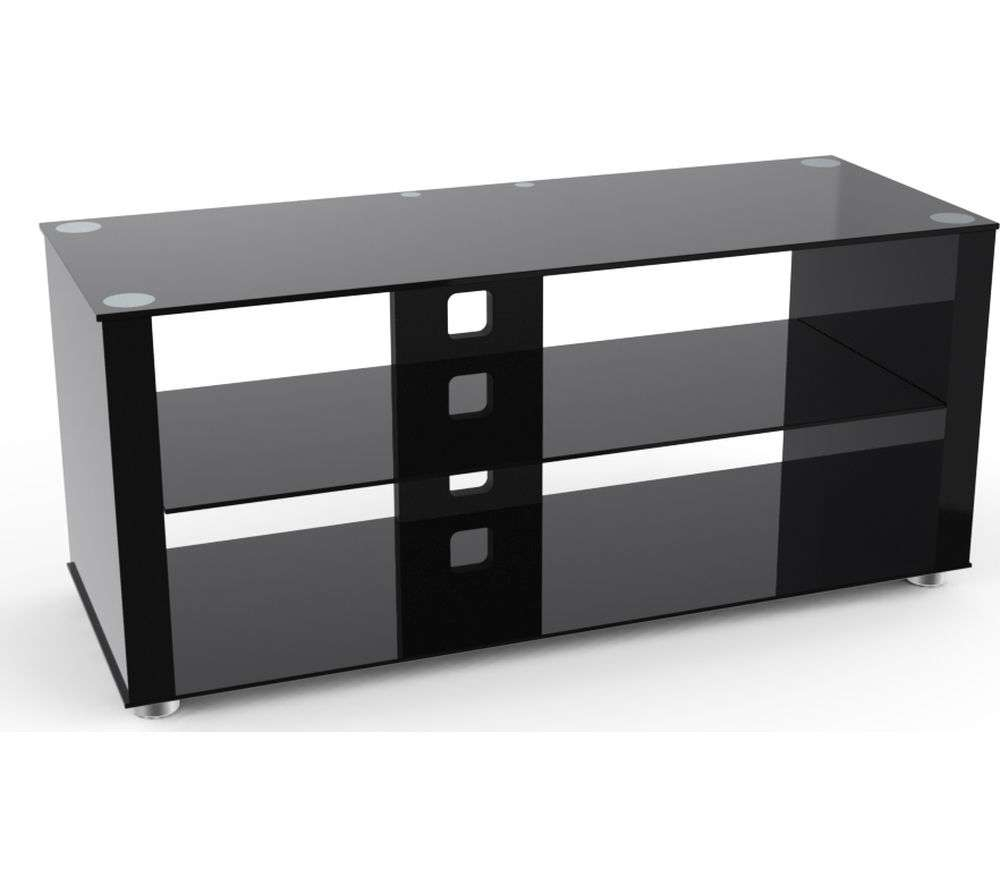 Buy Ttap Elegance 800 Tv Stand – Black | Free Delivery | Currys Inside Tv Stands Black Gloss (View 5 of 15)