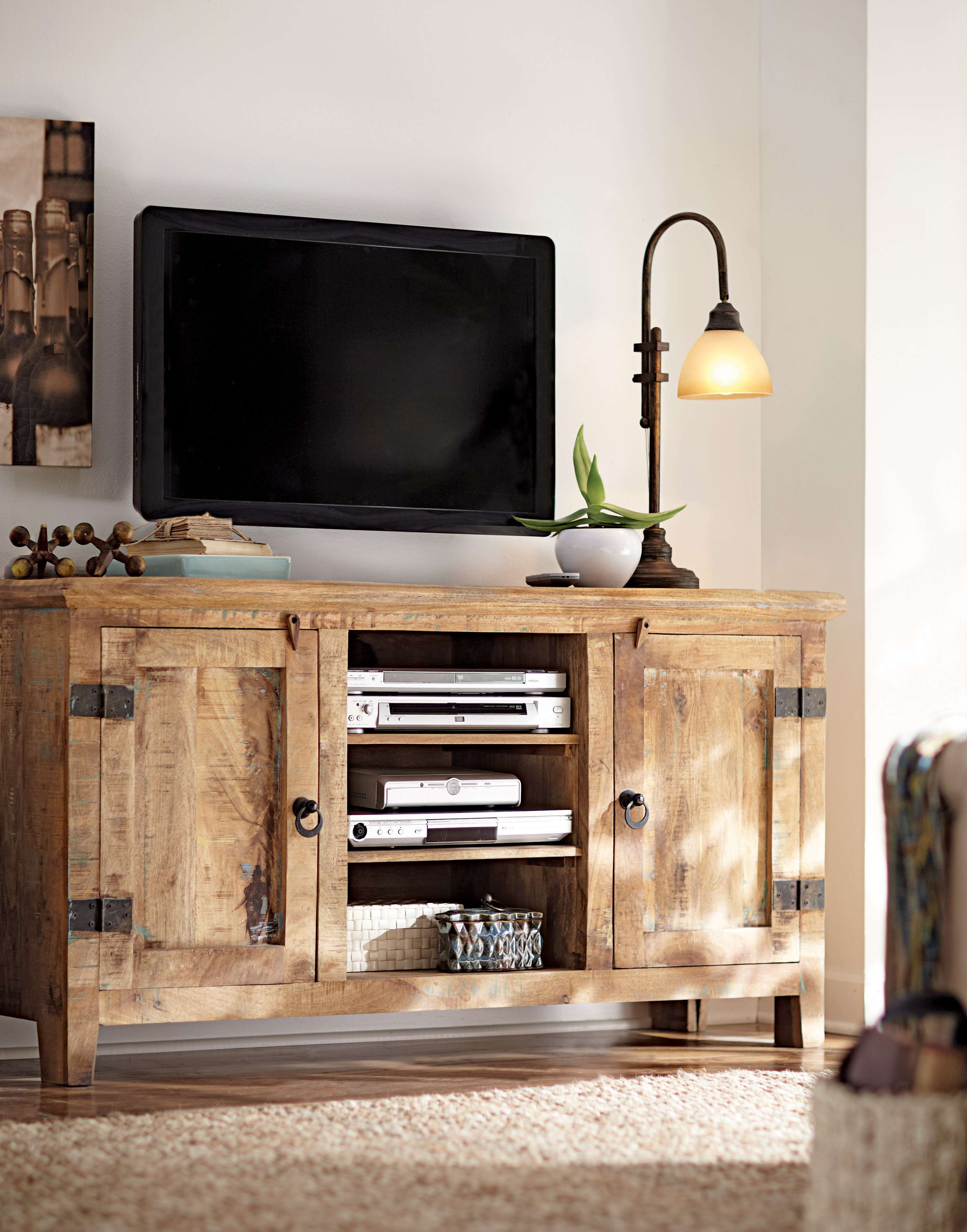 Cabinet : Attractive Top Rustic Oak Corner Tv Cabinet Commendable For Rustic Pine Tv Cabinets (View 15 of 20)