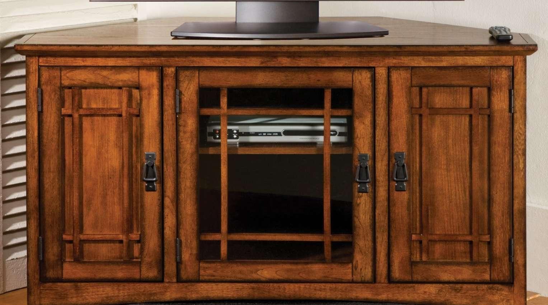 Cabinet : Black Mahogany Wood Corner Tv Stand With Storage Shelves For Mahogany Corner Tv Cabinets (View 19 of 20)