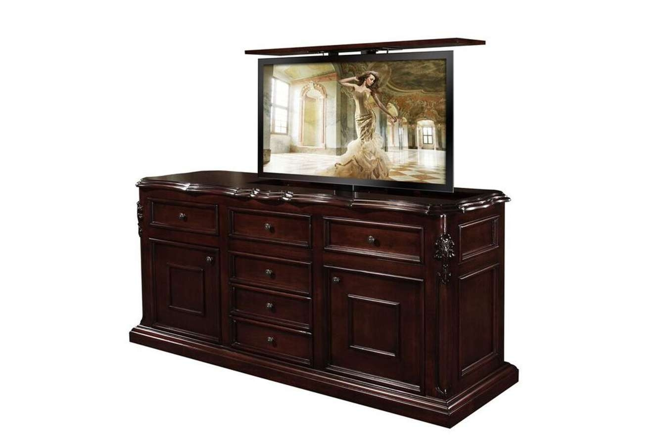 Cabinet : Motorized Pop Up Tv Lift Cabinets For Every Room Inside Pop Up Tv Stands (View 13 of 20)