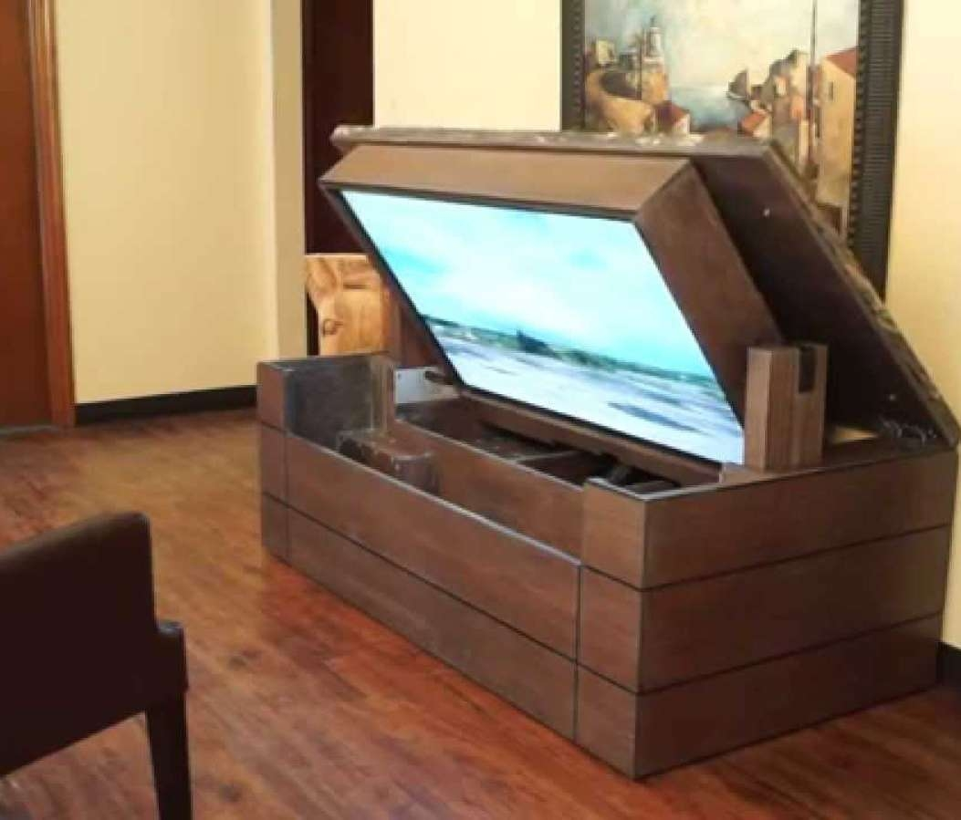 Cabinet : Open Tv Stand Simple Tv Stand Wood Tv Cabinet Simple Tv Intended For Pop Up Tv Stands (View 10 of 20)
