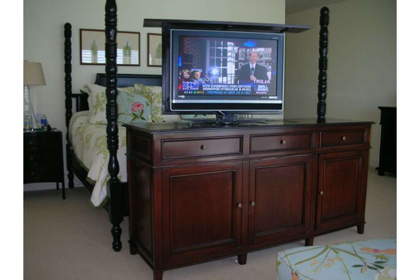 Cabinet : Tv Stands C Amazing Pop Up Tv Cabinets Penn Acacia Media Intended For Pop Up Tv Stands (View 4 of 20)