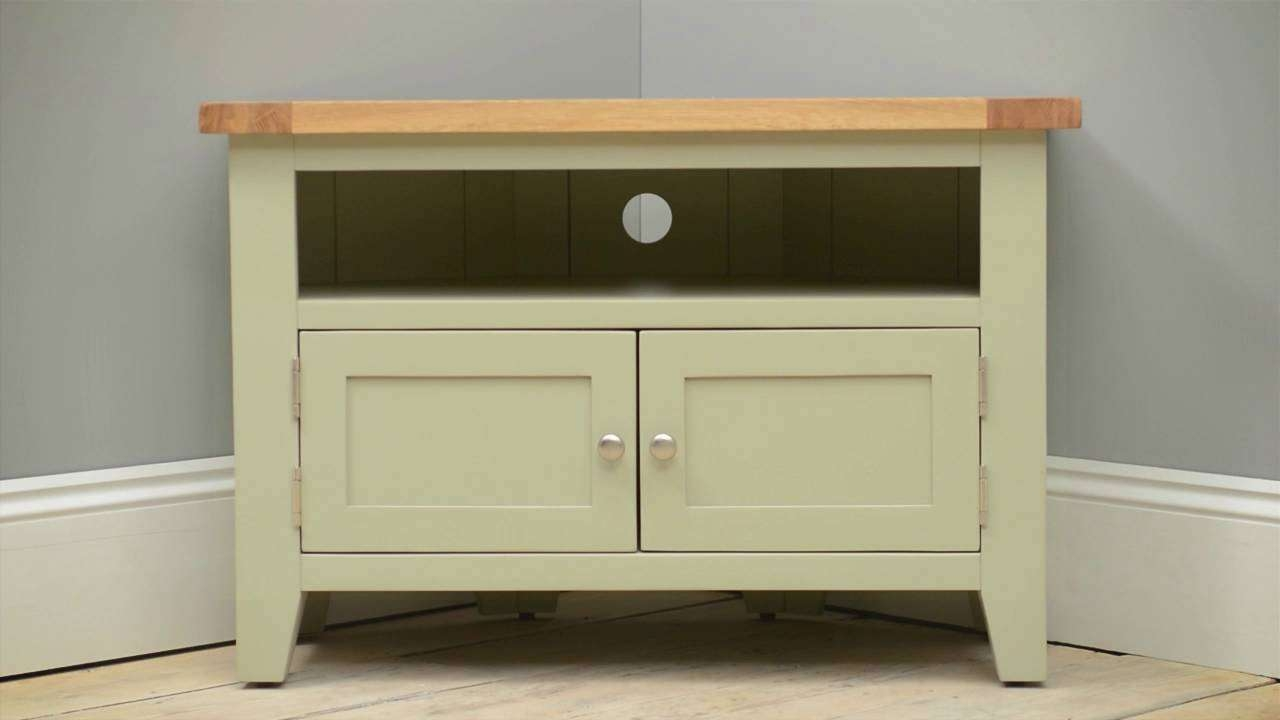 "Caldecote French Grey Corner Tv Stand – Up To 42"" – Cotswold Co Inside Grey Corner Tv Stands (View 13 of 20)"