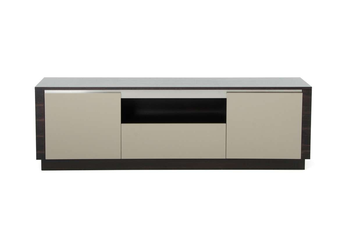 Caligari Modern Oak & Grey Gloss Tv Stand Regarding Modern Wooden Tv Stands (View 2 of 15)