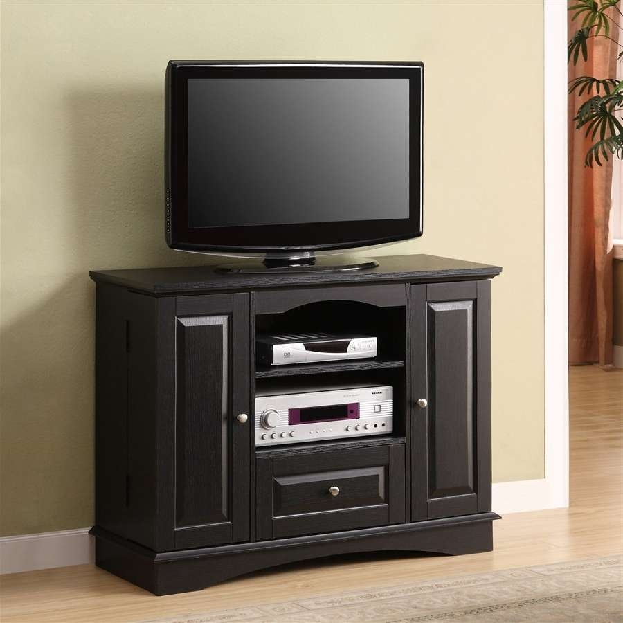 Calm Your Room Interior Together With Diy Floating Tv Stand Design With Regard To Black Tv Stands With Drawers (View 9 of 15)