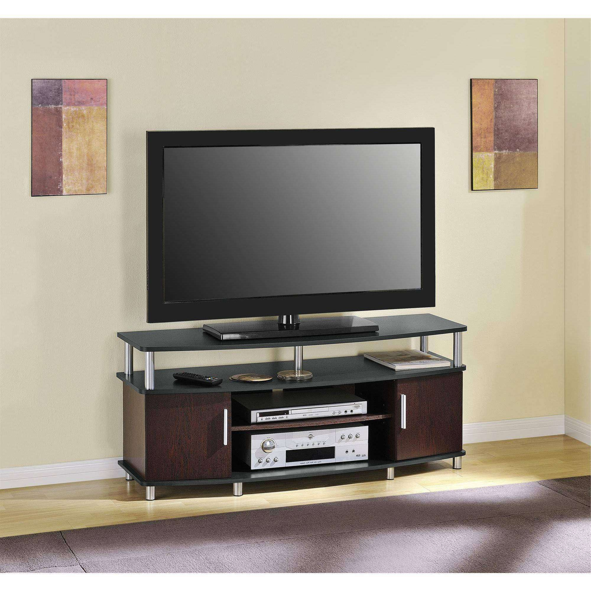 "Carson Tv Stand, For Tvs Up To 50"", Multiple Finishes – Walmart In Wooden Tv Stands For 55 Inch Flat Screen (View 1 of 15)"
