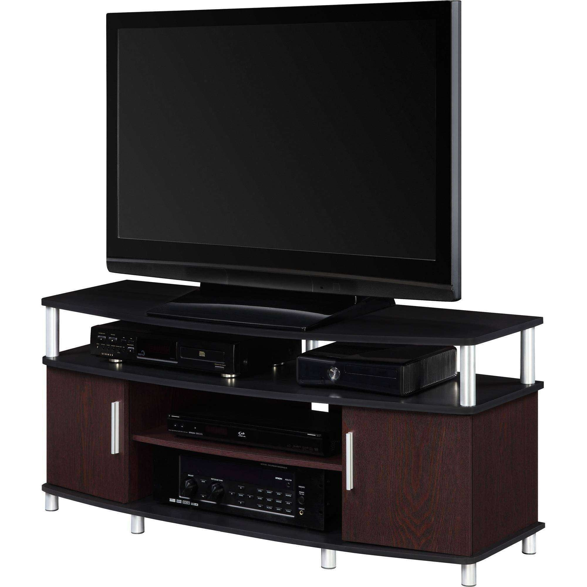 "Carson Tv Stand, For Tvs Up To 50"", Multiple Finishes – Walmart Intended For Tv Stands For 50 Inch Tvs (View 3 of 15)"