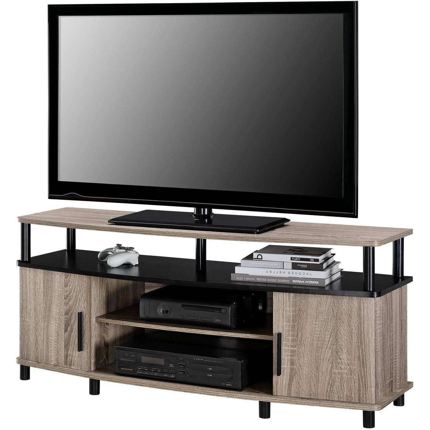 "Carson Tv Stand, For Tvs Up To 50"", Multiple Finishes – Walmart Regarding Tv Stands For 50 Inch Tvs (View 7 of 15)"