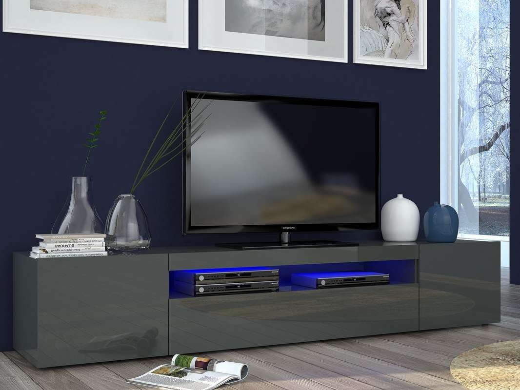 Castleton Home Daiquiri Grande Tv Stand For Tvs Up To 78 For Acrylic Tv Stands (View 10 of 15)