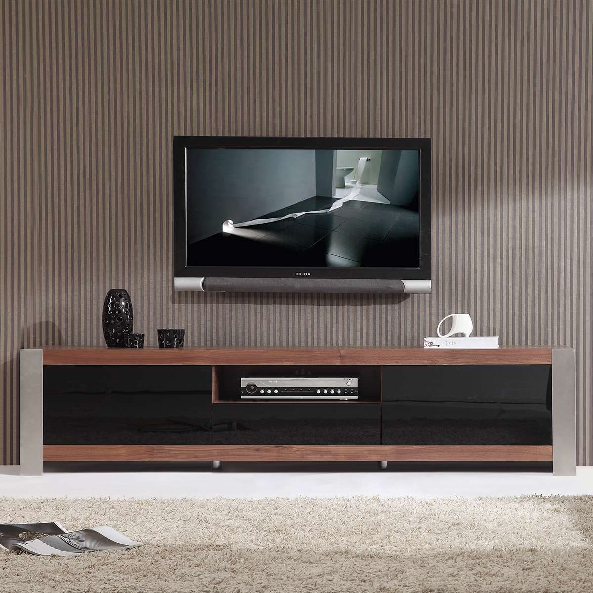 Catchy Gloss Black Tv Plasma Stands Coa Similiar Tv Stands Inside Contemporary Tv Stands For Flat Screens (View 4 of 15)