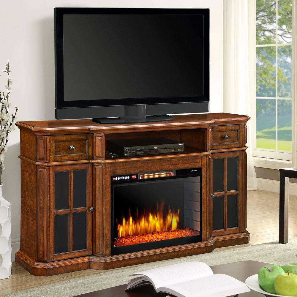 Cherry – Fireplace Tv Stands – Electric Fireplaces – The Home Depot Pertaining To Cherry Tv Stands (View 5 of 15)