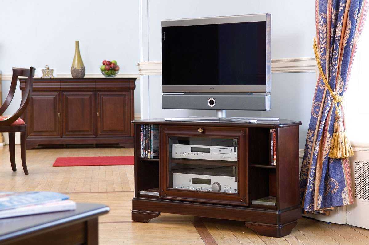Cherry Wide Tv Stand | Gola Furniture Uk For Mahogany Tv Stands (View 4 of 15)