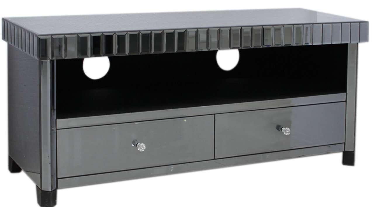 Chic & Mirrored :: Mirrored :: Smoked Mirrored :: Smoke Black Regarding Mirror Tv Cabinets (View 13 of 20)