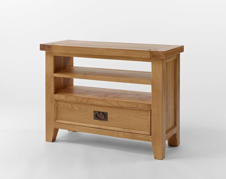Chiltern Oak Small Tv Unit | Oak Furniture Solutions Throughout Oak Corner Tv Stands (View 2 of 15)