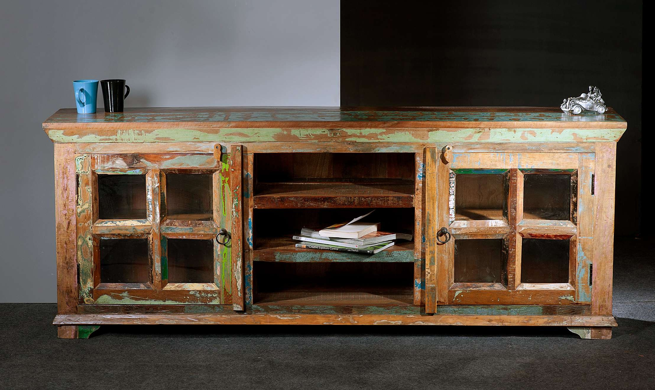Christmas Custom Made Reclaimed Wood Media Console Together With Intended For Wooden Tv Stands With Doors (View 3 of 15)