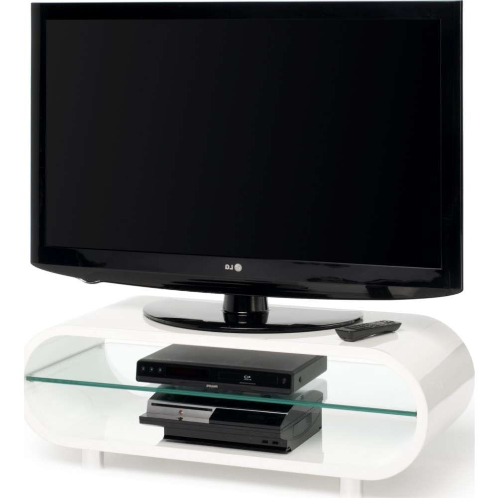 Chrome Plated Feet; Quick To Assemble; Displays Up To 50 Regarding Ovid White Tv Stands (View 1 of 15)