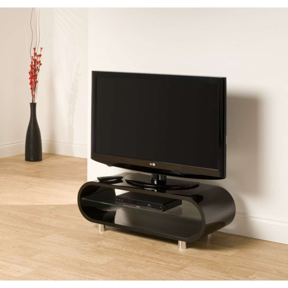 Chrome Plated Feet; Quick To Assemble; Displays Up To 50 Within Ovid Tv Stands Black (View 5 of 20)